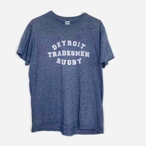 Detroit Tradesmen Rugby T-Shirt.  Hipster Cool!